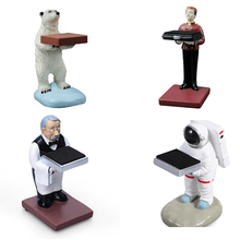 Handmade Dust-proof Astronaut Old Housekeeper Bear Waiter Watch Stand Rack Ring Earrings Gift Display Support With Sponge