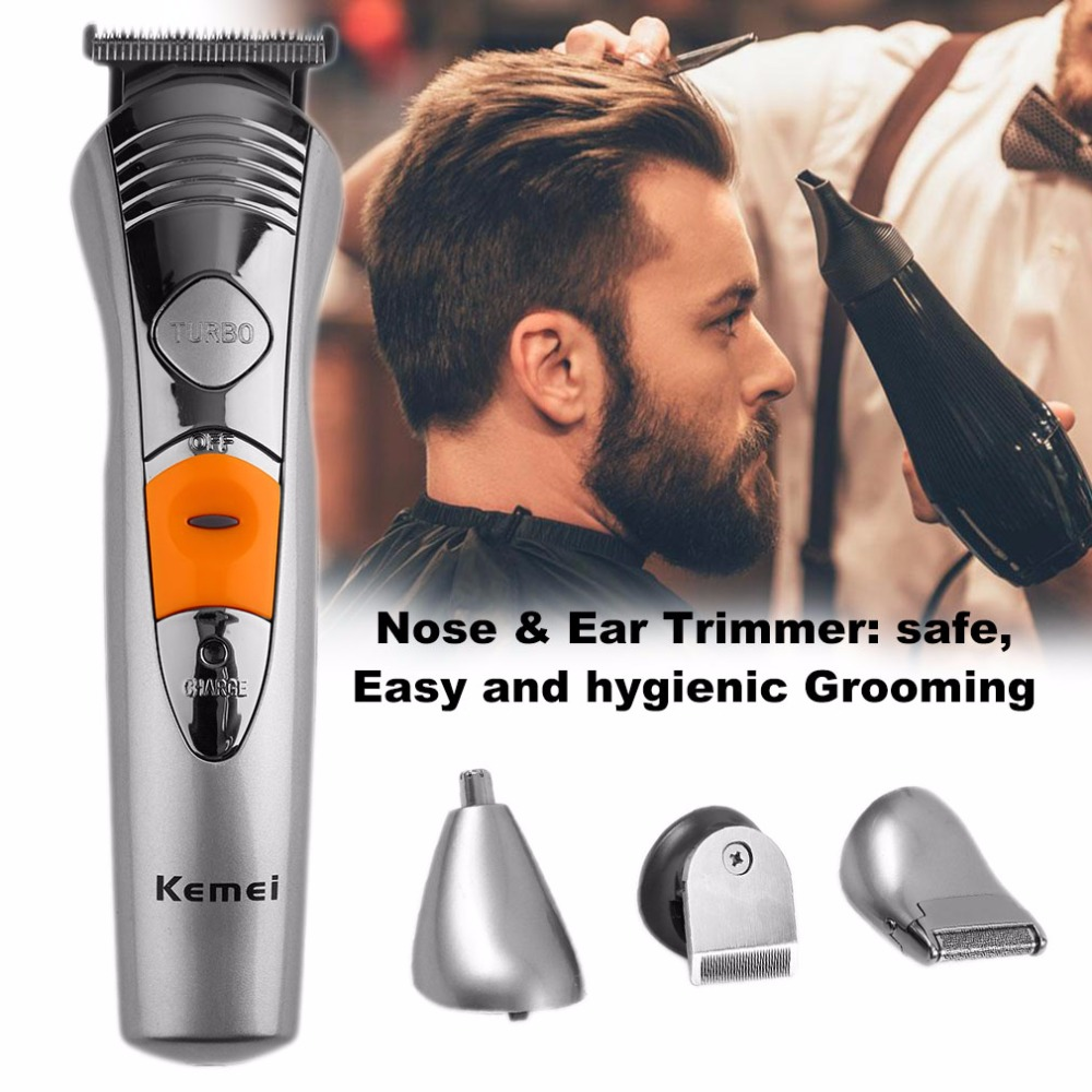 Kemei Professional 7 in 1 Rechargeable Grooming Kit Hair Beard Nose Clipper Trimmer Shaver Waterproof Design Top Quality