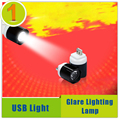Brilho Da Lâmpada de iluminação Lanterna Luz USB Portátil Para Banco De Potência, Laptop Notebook PC Computador Frete Grátis