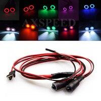 RC Car LED Lights 4 2v 6v Light Set Headlight Headlamps For 1 10 RC Model