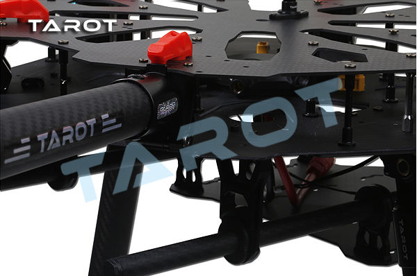 TAROT X6 ALL Carbon HEXA Copter Kit TL6X001  Set  with Electric Retractable Landing Skids and Folding Arm for F