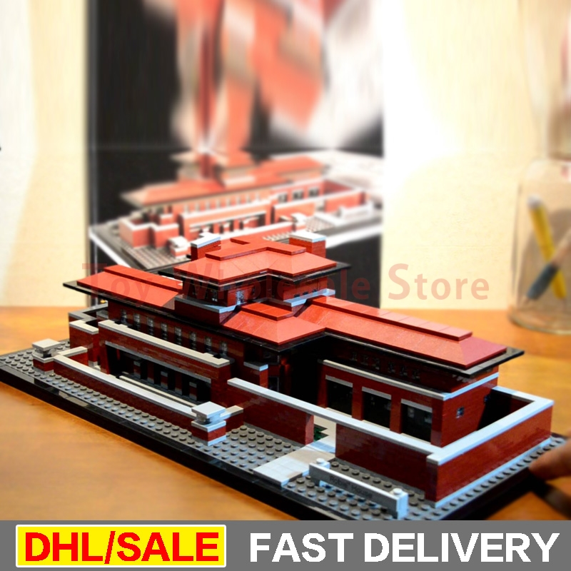 Lepin 17007 2326Pcs Genuine Architecture Series The Robie House Building Blocks Bricks lepins Toys Model Clone 21010 lepin 17007 in stock 2326pcs genuine architecture series the robie house set educational building blocks bricks toys model 21010
