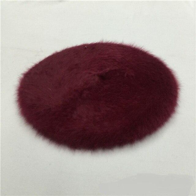 Winter Fashion Women's Rabbit Beret Hat Classic Artist Berets Cap Stylish Painter Newsboy Hats Female Bonnet Solid Cap