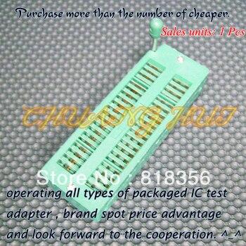 цена на IC TEST 100% NEW  40 Pin Universal ZIF Socket for DIP IC MCU 40 PIN Pitch=2.54mm  240-3345 IC Socket