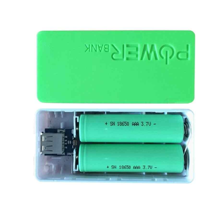 5600mAh 2X 18650 banco de energía USB funda cargadora de batería caja DIY para iPhone samsung Aug04 Dropship