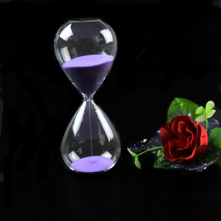 1PC 60 λεπτά Awaglass Χέρι-φουσκωμένο ρολόι χρονοδιακόπτη Μαγνητική αμπούτα κλεψύδρα σκάφη ασημί ρολόι κλεψύδρα χρονοδιακόπτη JY 1189-7