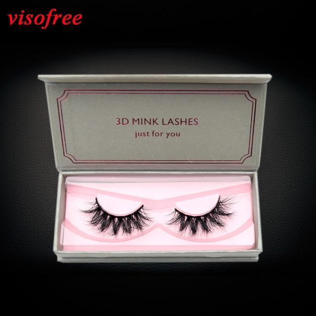 f18d685826a Visofree Eyelashes Makeup Mink eyelashes Handmade Full Strip Lashes Natural  Long 3D Mink Lashes Cruelty-
