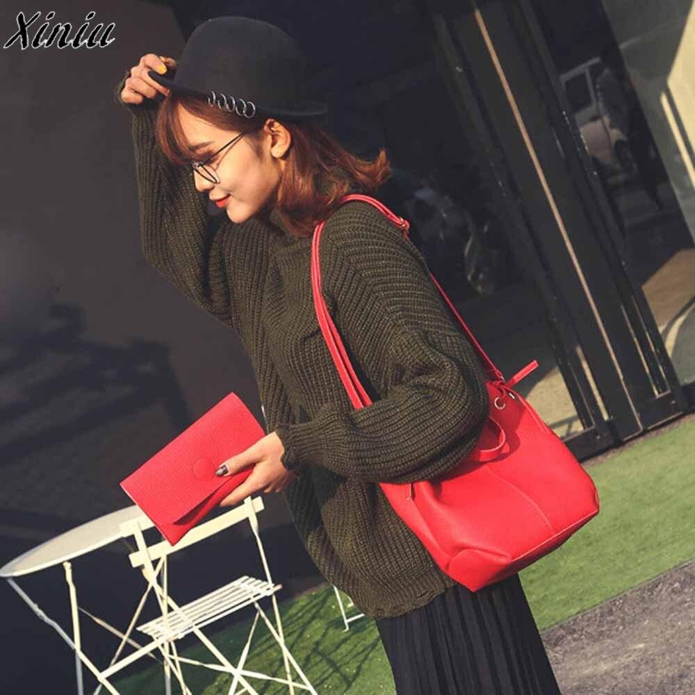 2 Stücke Mode Luxus Handtaschen Frauen Leder Vintage Weiblichen Beiläufigen Dame Litschistria Handtasche Crossbody Tasche + Kupplung Brieftasche Rheuma Lindern