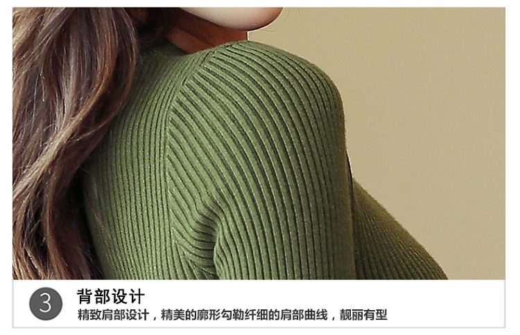 Fashion 19 New Spring Autumn Women Sweater Knitted Long Sleeve O-Neck Sexy Slim Office Lady Button Casual Sweaters Tops 31