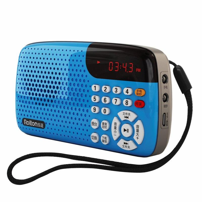 Unterhaltungselektronik Radio Aus Dem Ausland Importiert Rolton W105 Tragbare Radio Mini Stereo Led-anzeige Usbtf Große Lautsprecher Zwischen ältere übung In Die Morgen Singen Maschine