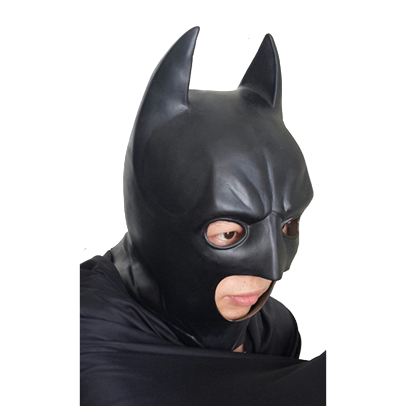 2016 Neue Batman Vs Superman Film Batman Latex Maske Maske Schwarz Latex Maske Cosplay Anime Batman Mann Zubehör Masken