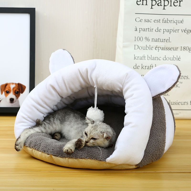 New Cotton  Round Pet Cat Bed  Autumn Winter Warmer Basket For Cats Sleeping Cushion For Puppy Pet Products For Small Dogs