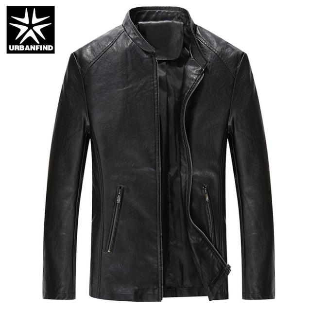 URBANFIND Brand Fashion Men Quality Leather Jackets Size M-4XL Soft PU Leather Man Cool Motorcycle Jacket Coats