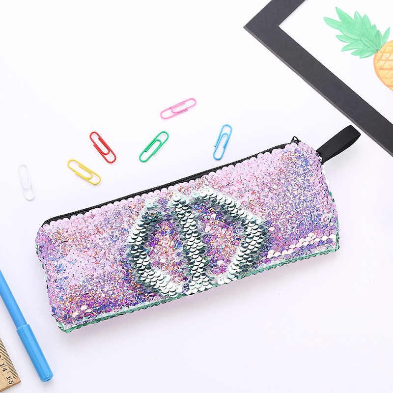 Baby Souvenirs Mermaid Pencil Case Reversible Sequin Wallet Bag Wedding Favors and Gifts for Guests Bridesmaid Gift Party Favors