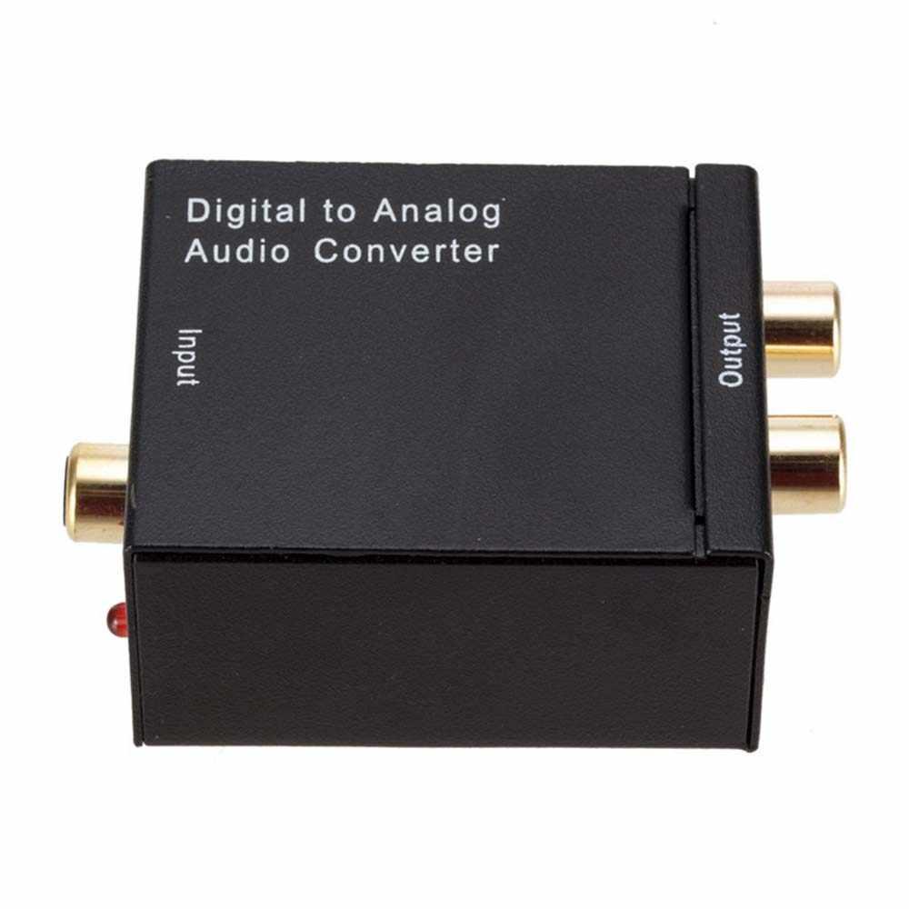 YuBeter Amplificador DAC Decodificador Digital para Analógico De Áudio Conversor de Sinal de Áudio RCA Coaxial Optical Toslink SPDIF para Analógico L/ R Saída