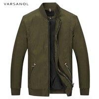 をvarsanolブランド冬のジャケット男性カジュアル服野球襟長袖基本ジャケットコート正規ジッパー生き抜くアーミーグリーン