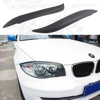 E87 E82 FRP Car Front Headlight Eyelid Cover Trim Sticker For BMW E82 E87 Eyebrows 2004