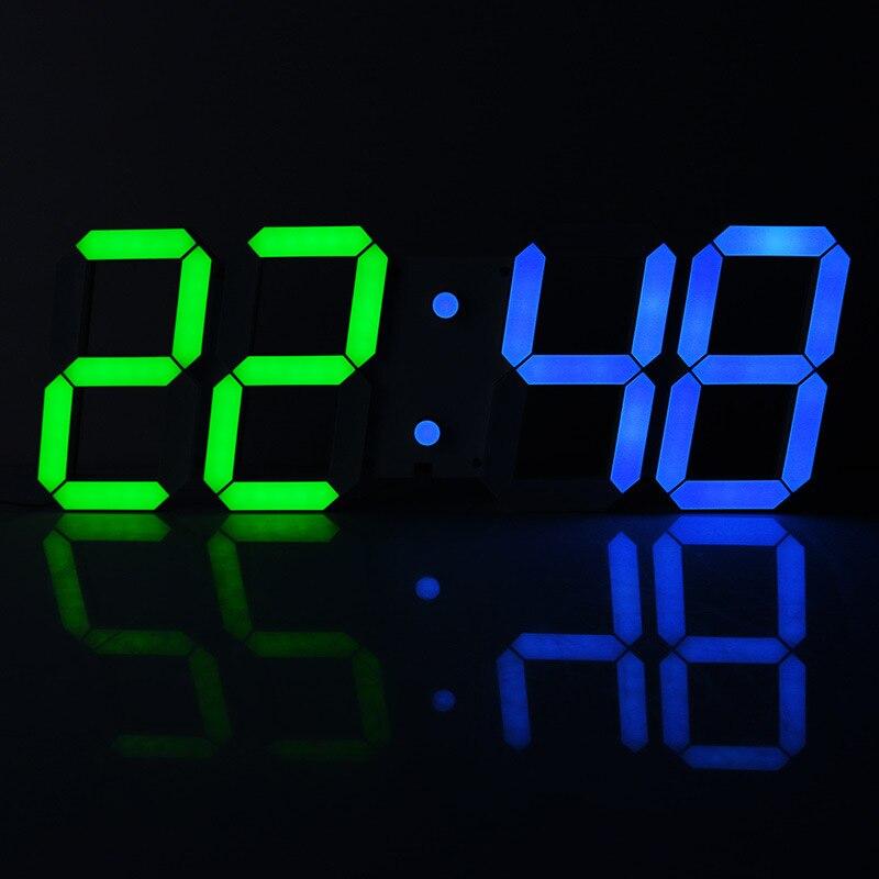 Large Wall Clock <font><b>LED</b></font> Saat Digital stereo clock Alarm Clock despertador Reloj Duvar Saati Horloge Murale Match the clocks <font><b>Klok</b></font>