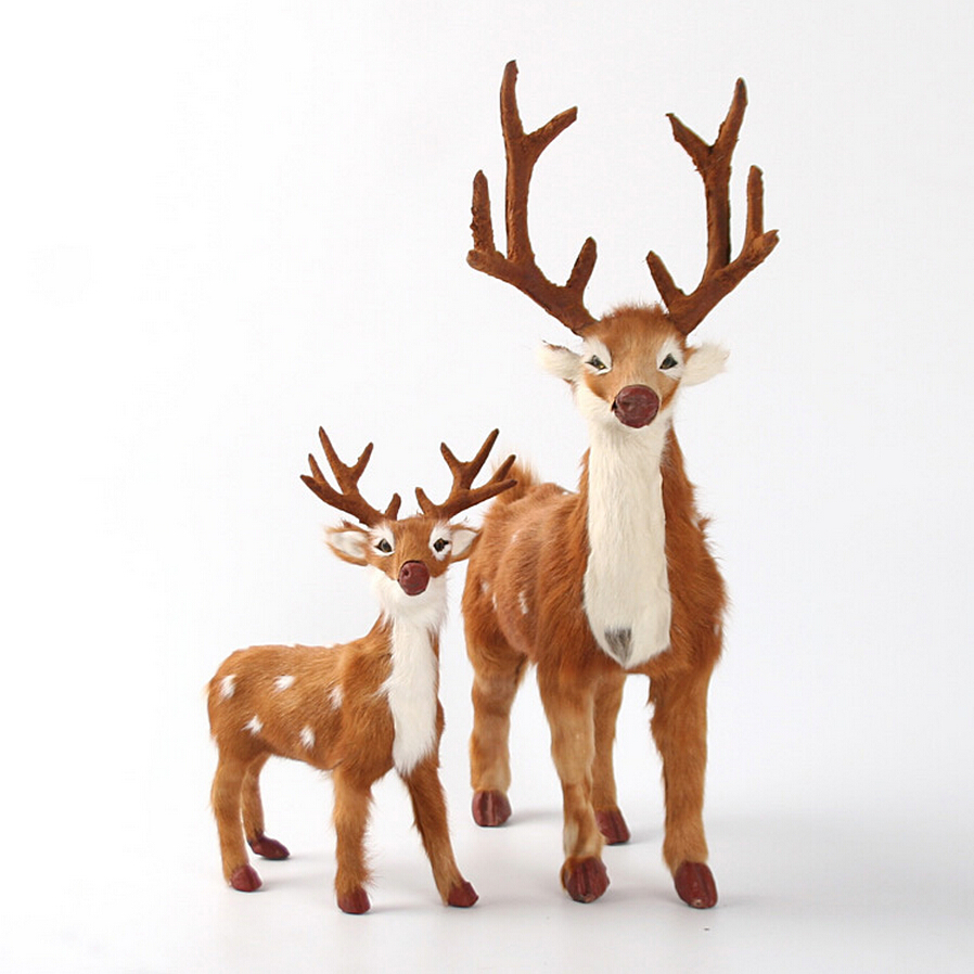 Online buy wholesale christmas reindeer figurines from for Christmas reindeer decorations