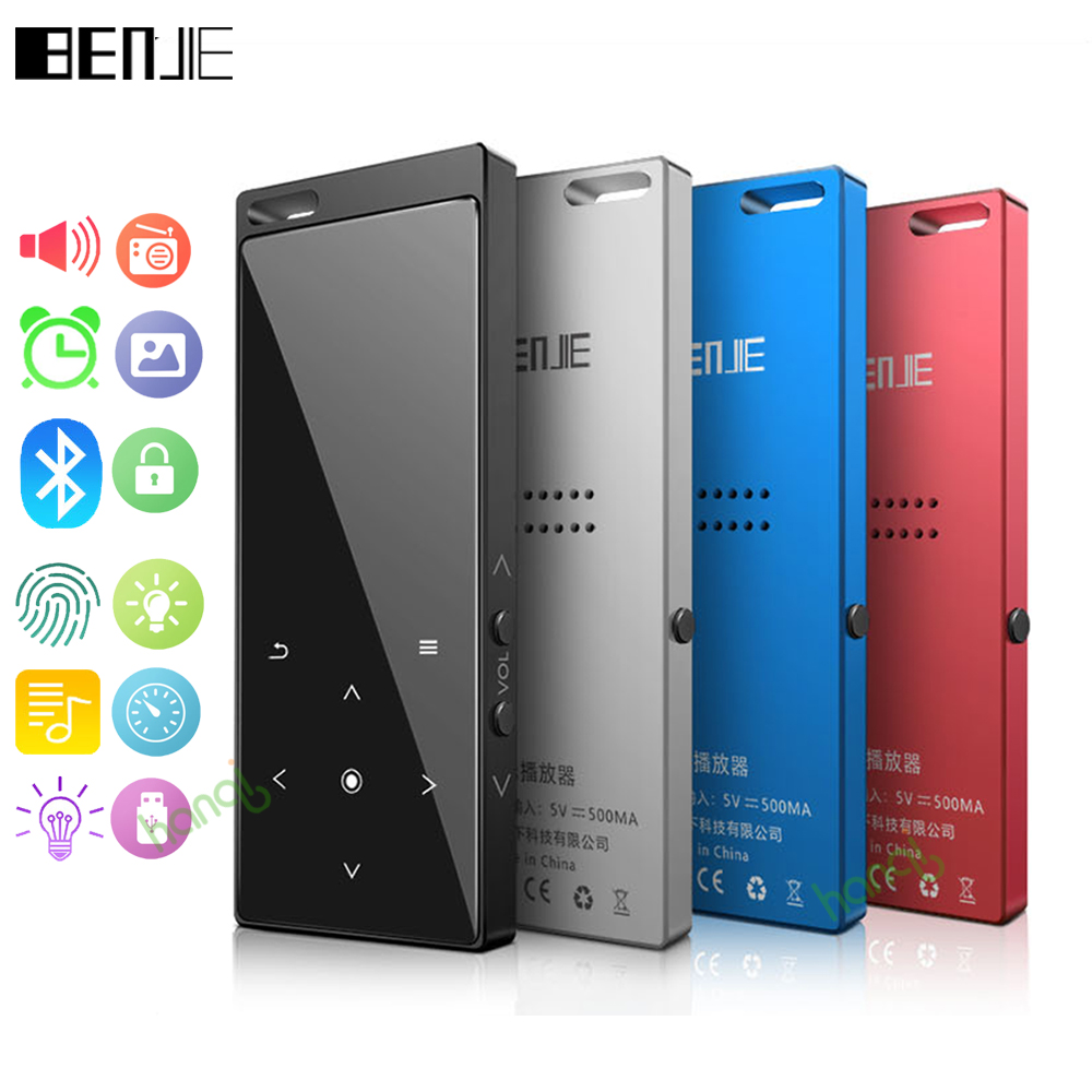 Original Benjie M3 Bluetooth MP3 Player Portable Audio 8GB With Built-in Speaker Music Player Recorder FM Radio Support TF Card