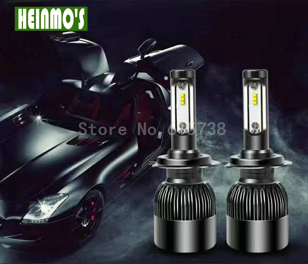 2PCS 72W CSP Chips Car Headlight LED H1 Bulbs Auto Led Headlamp 9005 H11 H4 H3 6600LM Fog Lights for Ford Honda hyundai Lamps  1pair h8 h9 h11 car led headlight bulb cob 72w 8000lm car led fog lights auto led headlamp bulbs for vw hyundai toyota kia honda
