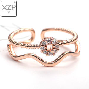 XZP Adjustable Rings Jewelry Open-Wide Fashion Women Simple-Design Lady for Street-Beat
