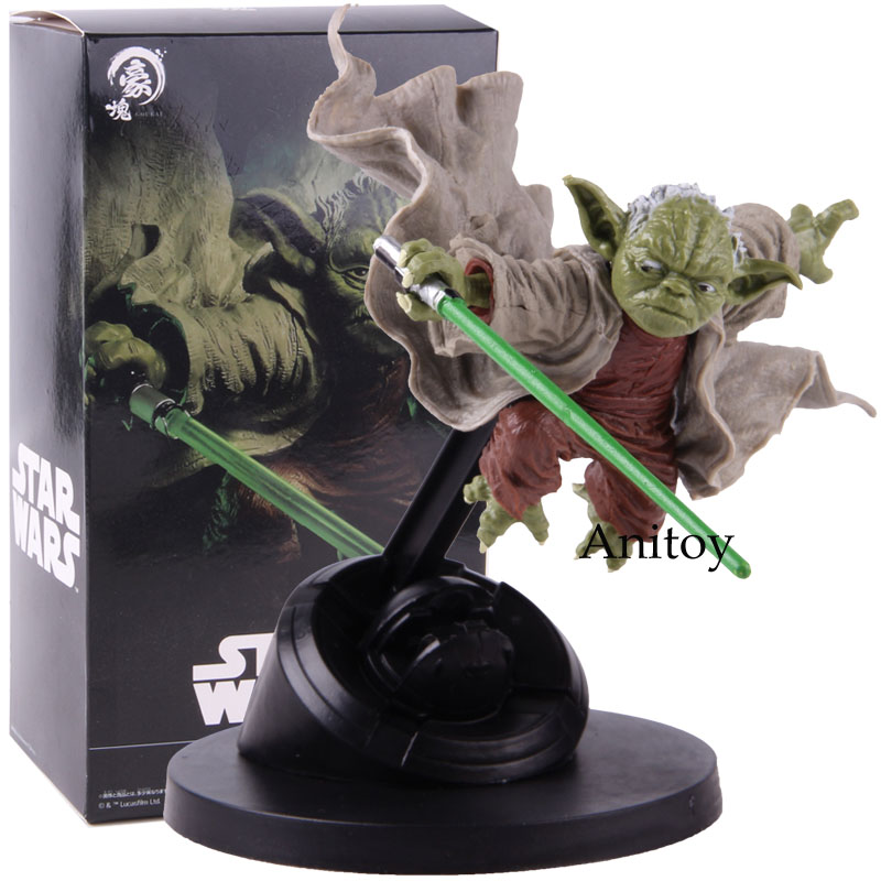 Star Wars Yoda Fighting Version PVC Master Yoda Action Figure Collectible Model Toy