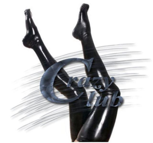 2016 Mulheres Da Moda preto Natural látex zentai lotação de látex de alta qualidade gótico sobre meia joelho leggings de látex Frete Grátis