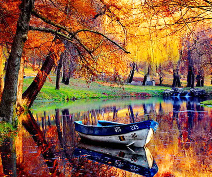 5D DIY Diamond Painting Landscape Boat Crystal Full Square Diamond Painting Cross Stitch River Forest Needlework Home Decorative