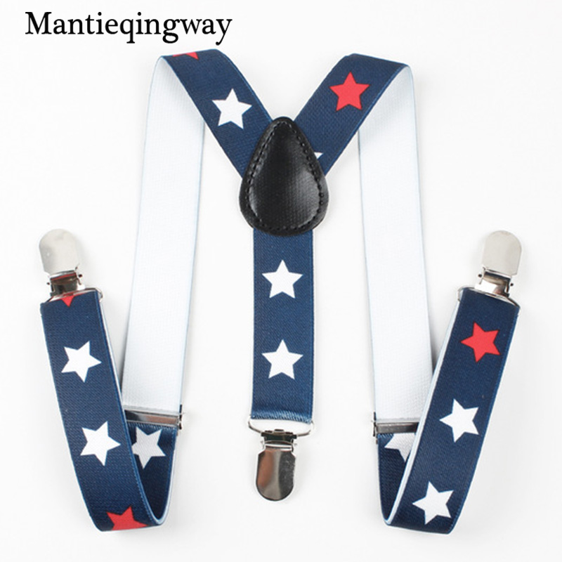 Mantieqingway New Arrival Baby Suspenders kids Boys Grils Elastic Suspender Braces for Wedding Fashion 3 Clip-on Y-back Braces