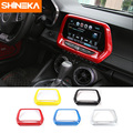 SHINEKA ABS 5 colores GPS navegación Panel cubierta Media pantalla marco 8,0 pulgadas 6th Gen para Chevrolet Camaro 2017 + estilo de coche