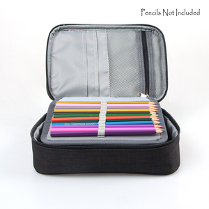 Image 3 - 72 חריצים להסרה אוקספורד בד בית ספר עפרונות מקרה גדול קיבולת בצבעי מים בצבע עיפרון תיק עבור מתנת תלמיד אספקת אמנות