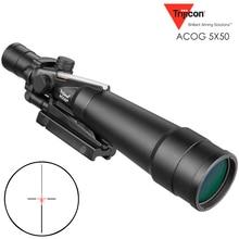 ACOG 5X50 Optical Riflescope 20mm Dovetail Optics Tactical   Scope Sight For Hunting Rifle Outdoor Airsoft Sniper цена в Москве и Питере