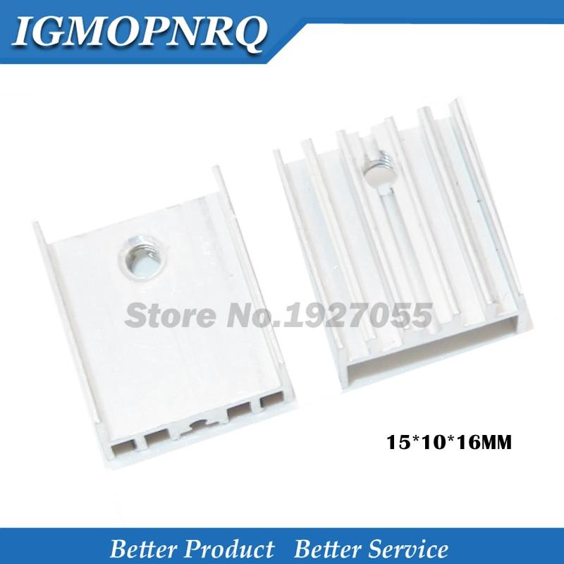 20PCS TO-220 Dissipateur thermique noir en aluminium 19x15x10mm pour DEL transistors de puissance NEUF