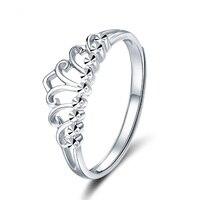 ANI 18 К белого золота (AU750) для женщин обручальное кольцо элегантное платье принцессы queen Корона Дизайн ювелирные изделия аутентичные Joyas de oro 18