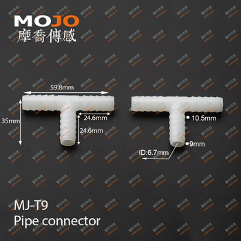 2020 Free shipping!!  MJ-T9  9mm PP  Tee type pipe  connector (100pcs/lots)