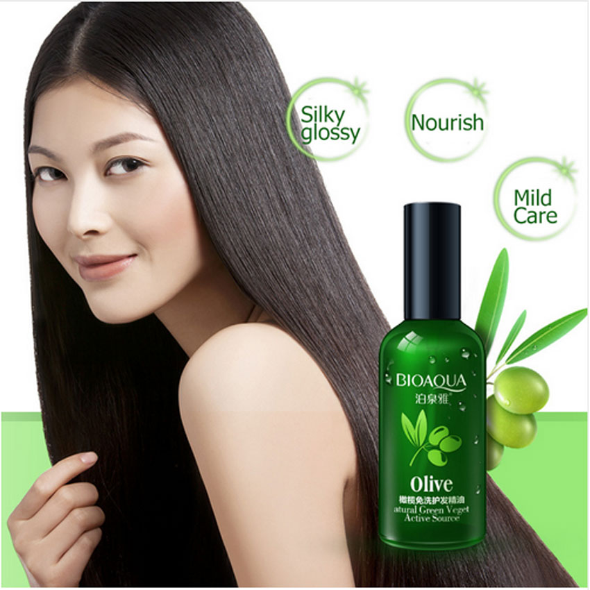 BIOAQUA Brand Olives Hair Essential Oils Scalp Treatment Hair Conditioner for Dry and Damaged Hair Dyed Curly Straight Hair Care image