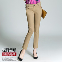 Discount 2017 Spring Autumn New Drawstring Plaid Lattice Pants Patchwork Pants Casual Pants For Woman Trousers