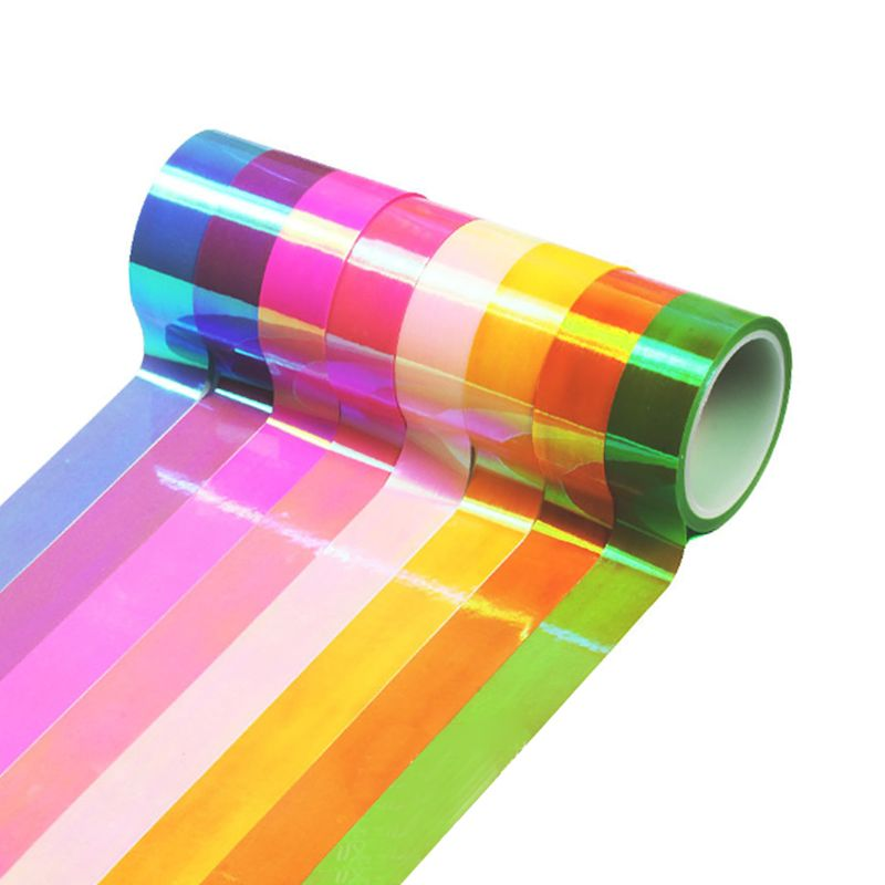 8pcs set Rhythmic Gymnastics Decoration Holographic Glitter Tape Ring Stick Accessory 15mm 5m Stationery Decorative DIY Masking in Gymnastics from Sports Entertainment