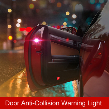 2x LED Anti Collision Car Door Light Warning Light For Mercedes Benz W202 W220 W204 W203 W210 W124 W211 W222 X204 AMG CLK image