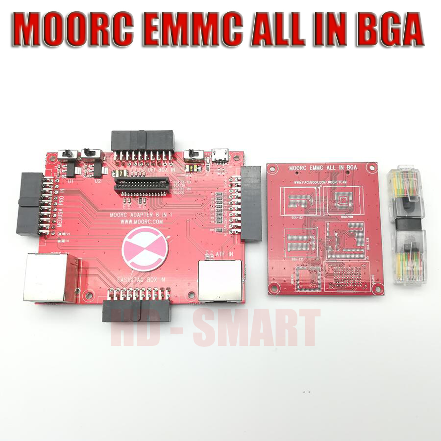 2018 neueste update MOORC JTAG ISP Adapter ALLE IN 1 Für RIFF EINFACH JTAG PRO JTAG MEDUSA EMMC E-MATE BOX ATF BOX