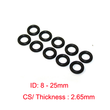 100 PCS NBR rubber O ring O-ring Oring Seal CS2.65mm Rubber Gaskets ID 8-25mm