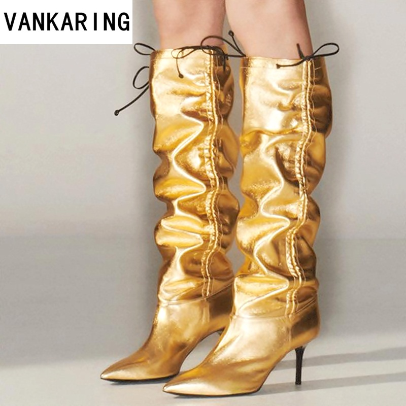 brand shoes two ways to wear novelty fold patent leather women thigh knee high boots sexy