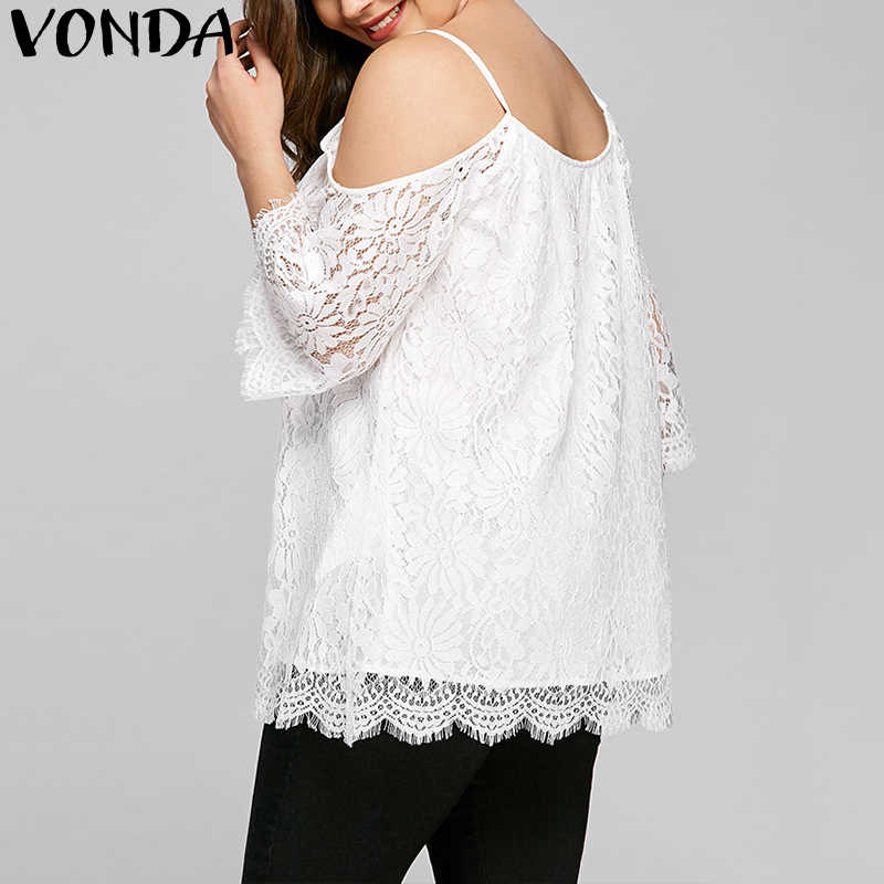 Lovely Hot Sale 2019 New Women Blouses Shirts Sexy Off Shoulder Half Sleeve Tops Casual Solid Lace Crochet Hollow Out Blusas Femininas Blouses & Shirts