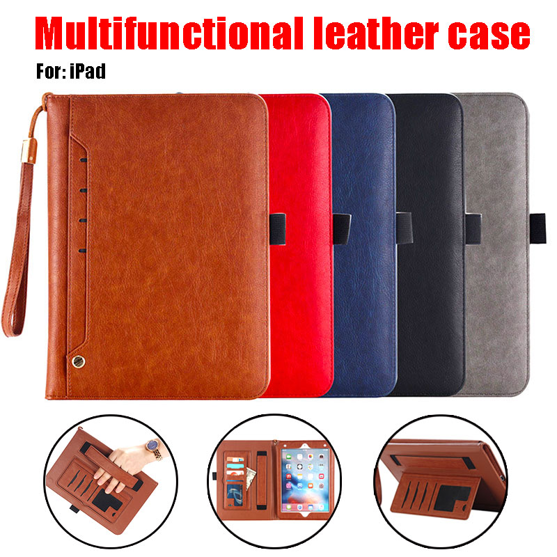 Multi-function Case Suitable For <font><b>iPad</b></font> Pro10.5 Leather Flip Cases For <font><b>iPad</b></font> <font><b>9</b></font>.<font><b>7</b></font> <font><b>2017</b></font>/<font><b>2018</b></font> Soft Cover For <font><b>iPad</b></font> <font><b>2</b></font> 3 4 Apple <font><b>Air</b></font> <font><b>1</b></font> <font><b>2</b></font> image