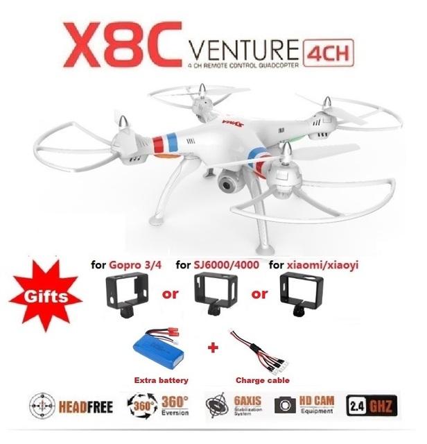 Drone Cuadricóptero Profesional RC SYMA X8C X8 2.4G 4 canales 6 ejes con cámara HD de 2MP de ángulo amplio, el más nuevo helicóptero 2015 a control remoto