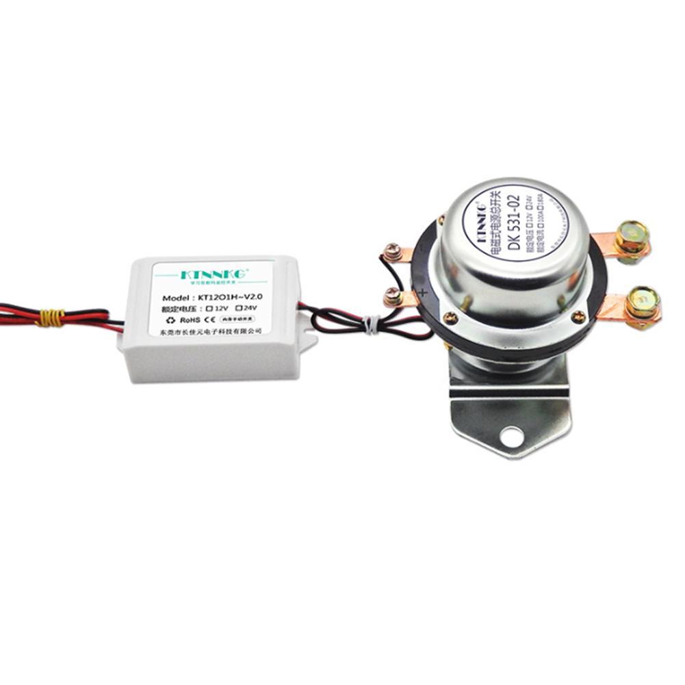 Interrupteur de fuite de batterie de voiture 12 V 24 V interrupteur de prévention de fuite électromagnétique commutateur d'alimentation Intelligent à télécommande Modificatio