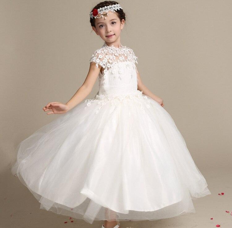 2018 enfants filles robe brodé arc percé tempérament coréen enfants robe printemps vêtements en gros