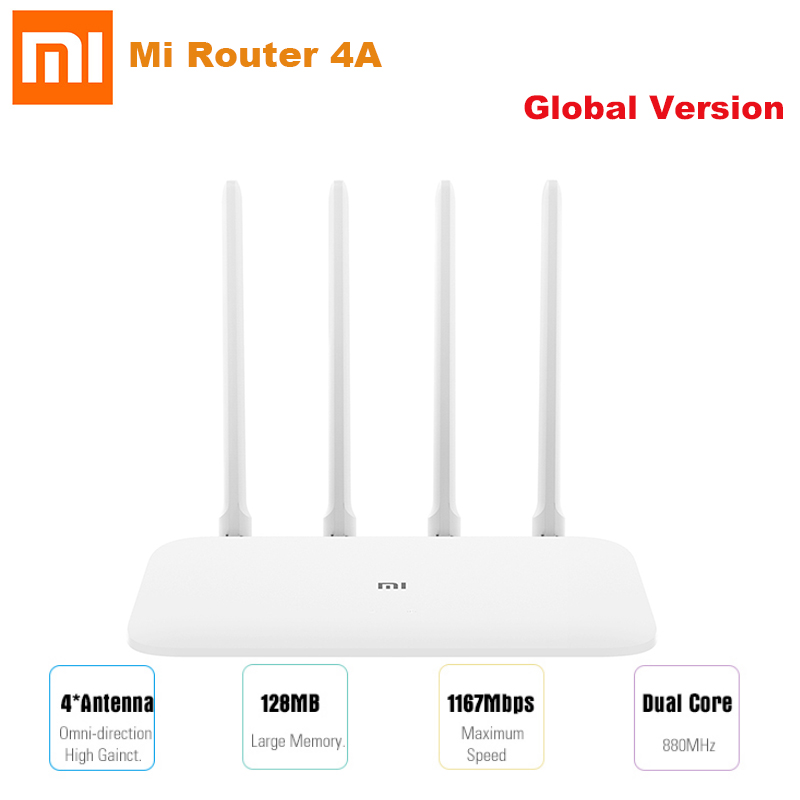 Global Version Xiaomi Mi 4A Router 1000Mbps Gigabit Edition 2.4GHz 5GHz WiFi 16MB 128MB DDR3 4 Antenna Remote APP Control IPv6