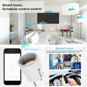 Image 5 - Smart life Smart Wifi Plug EU Socket 3680W 16A power Energy Monitoring Outlet Timer Switch Voice Control Work with Alexa Google